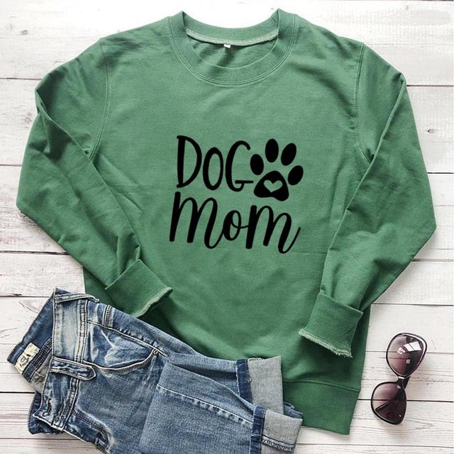 Dog Mom Paw Sweatshirt