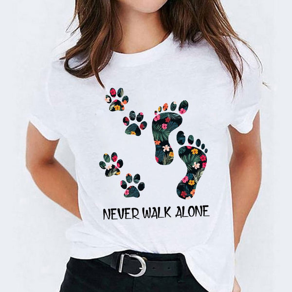 Never Walk Alone Women T Shirt