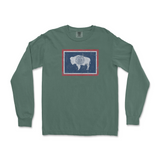 Wyoming Flag Long Sleeve Tee