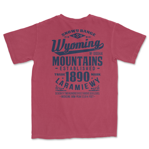 Wyoming Mountains Type Tee