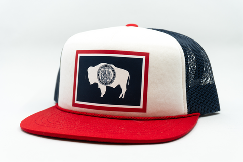 Foamie Wyoming Flag Trucker