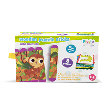 Wooden Puzzle Sticks - Wild Animals