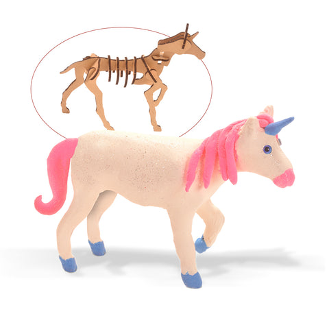 Wood & Clay Kit - Make a Unicorn