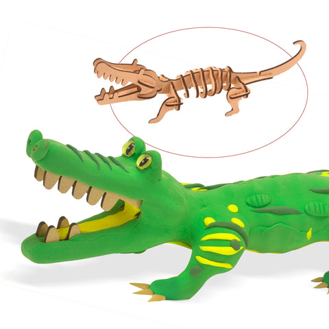 Wood & Clay Kit - Make a Crocodile