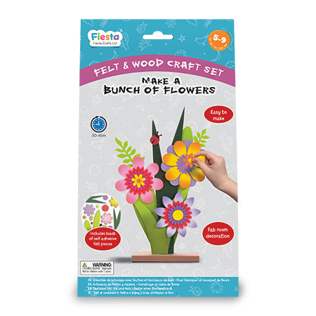 Wood & Felt Craft Kit- Make a Bunch of Flowers