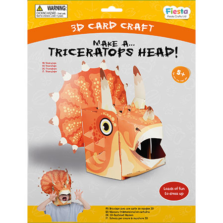 Triceratops 3D Mask Card Craft