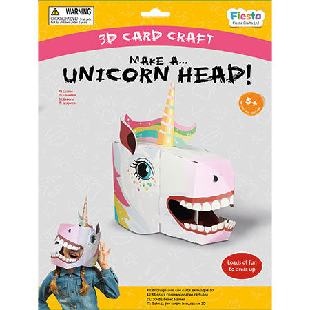 Unicorn 3D Mask Card Craft