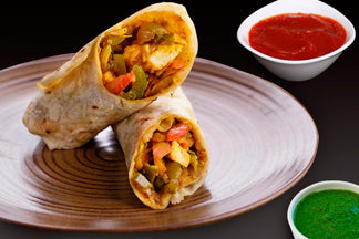 Paneer Tikka Roll at home - Easy recipe
