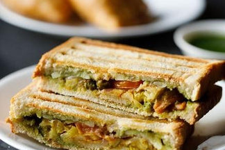 Toasted Samosa Sandwich at home- Easy 2 min recipe!