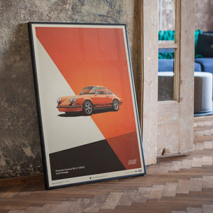 Porsche 911 RS - Orange - Limited Poster