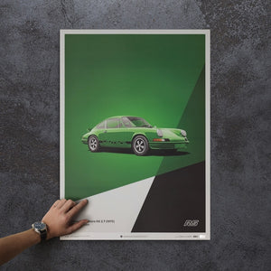 Porsche 911 RS - Green - Limited Poster
