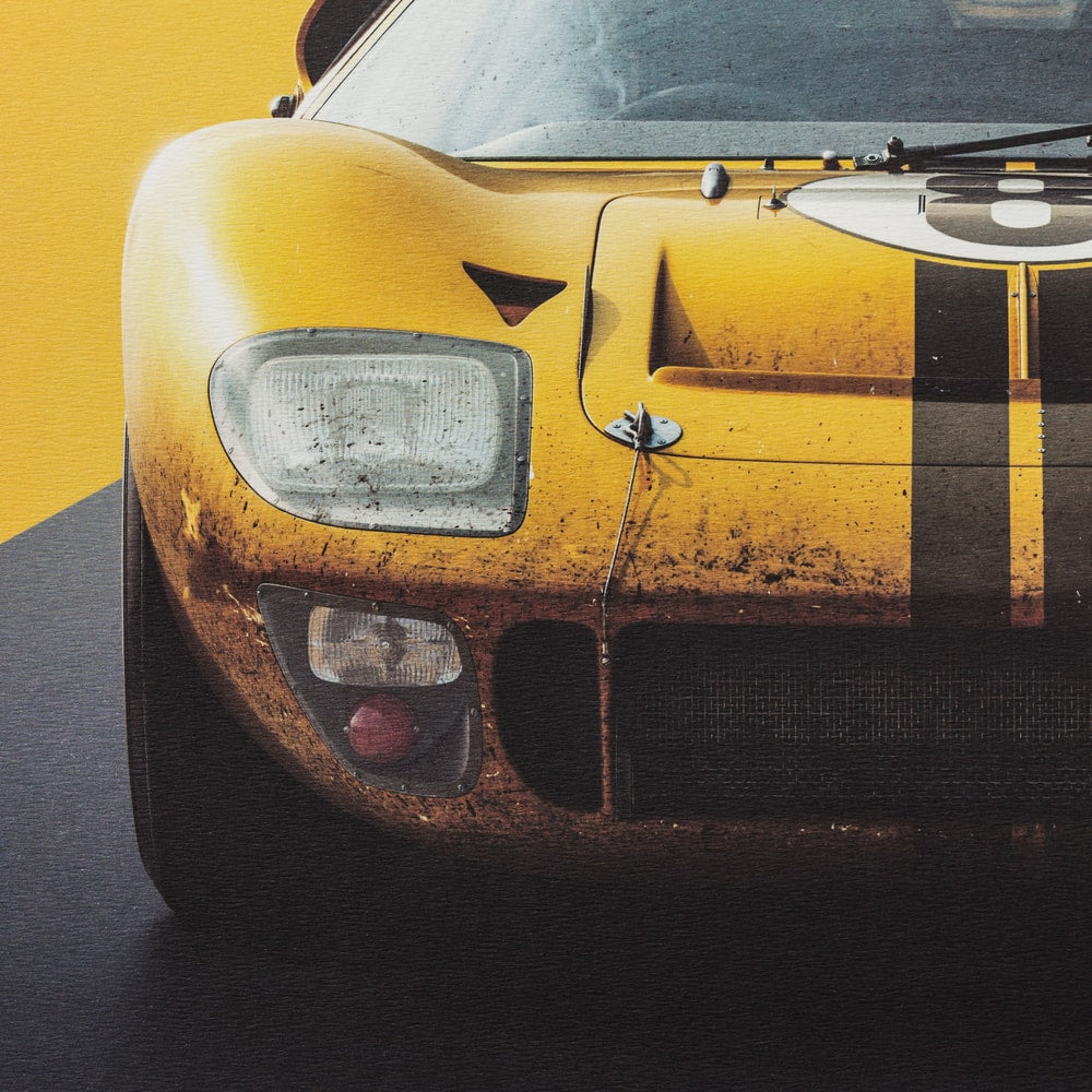 Ford GT40 - Yellow - 24h Le Mans - 1966 - Limited Poster
