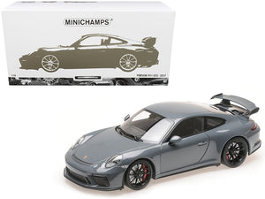 2017 Porsche 911 GT3 Graphite Blue Metallic Limited Edition to 222 pieces Worldwide 1/18 Diecast Model Car by Minichamps