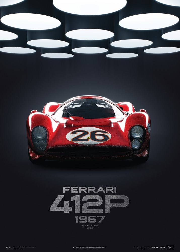 Ferrari 412P - Red - 24 Hours of Daytona - 1967 | Collector's Edition