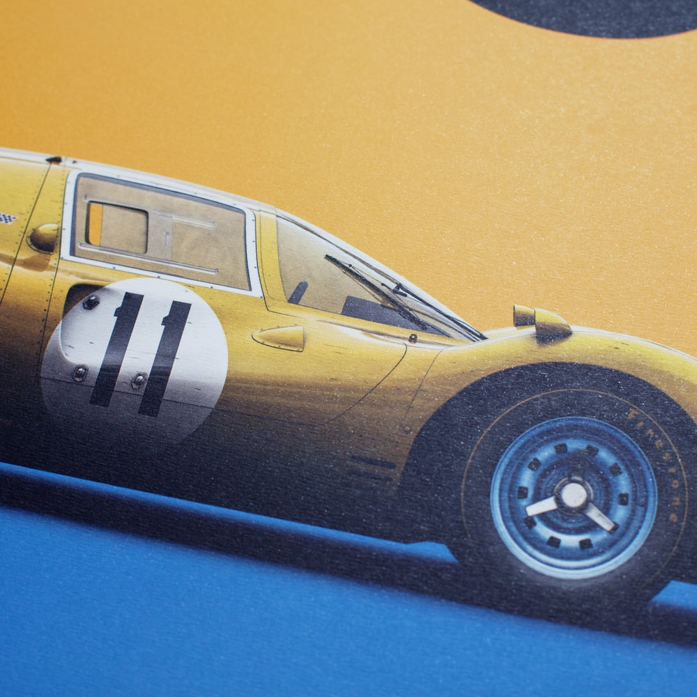 Ferrari 412P - Yellow - Spa-Francorchamps - 1967 - Limited Poster