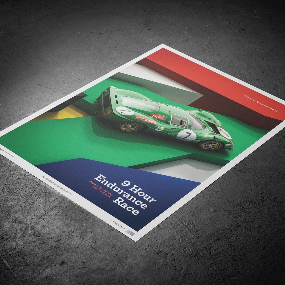 Ferrari 412P - Green - Kyalami 9 Hour - 1967 - Limited Poster