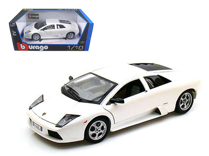 Lamborghini Murcielago Pearl White 1/18 Diecast Car Model by Bburago