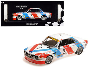 BMW 3.0 CSL #2 De Fierlant / Xhenceval Winners 24 Hours SPA 1975 (Luigi Racing) Limited Edition to 360 pieces Worldwide 1/18 Diecast Model Car by Minichamps