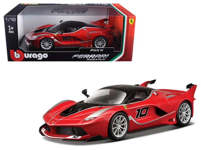Load image into Gallery viewer, Ferrari FXX-K #10 Red 1/18 Diecast Model Car by Bburago