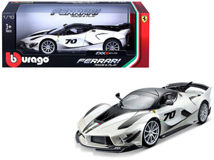 Ferrari FXX-K Evo #70 White 1/18 Diecast Model Car by Bburago