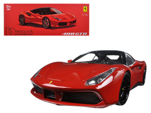 "Ferrari 488 GTB Red ""Signature Series\"" 1/18 Diecast Model Car by Bburago"