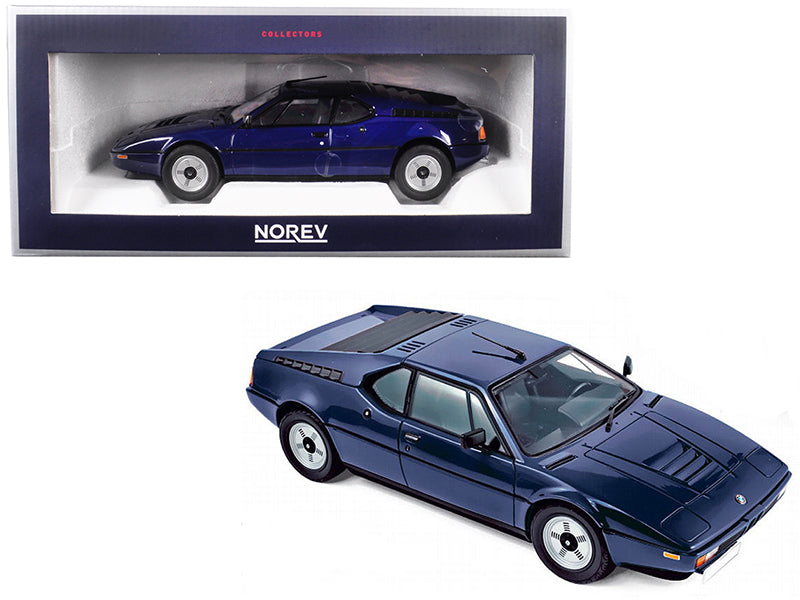1980 BMW M1 Dark Blue 1/18 Diecast Model Car by Norev