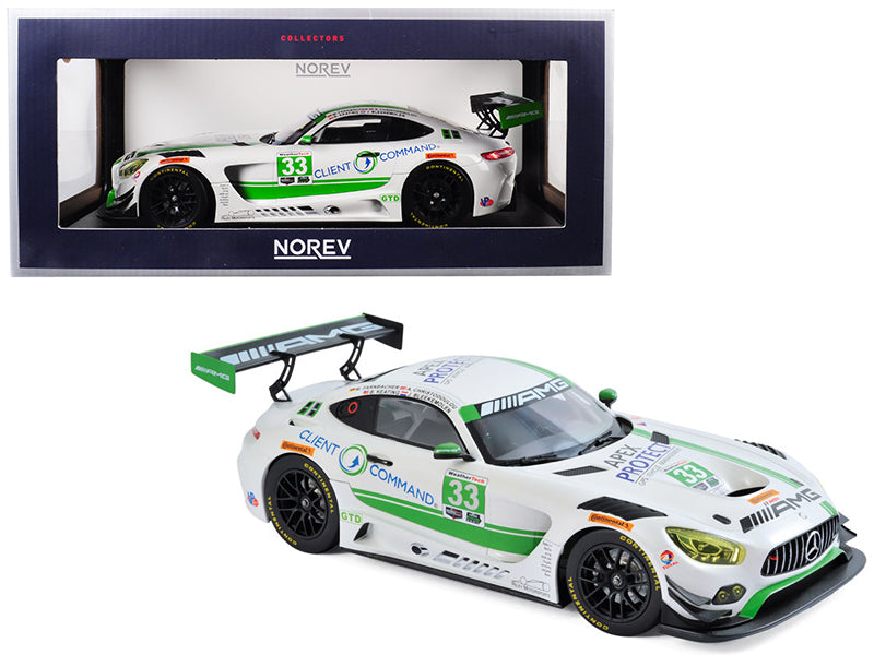 Mercedes AMG GT3 #33 Daytona 2017 Daytona Team Riley 1/18 Diecast Model Car by Norev