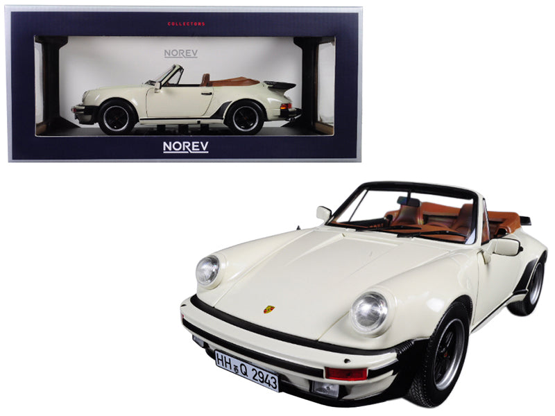 1987 Porsche 911 Turbo Cabriolet Ivory 1/18 Diecast Model Car by Norev