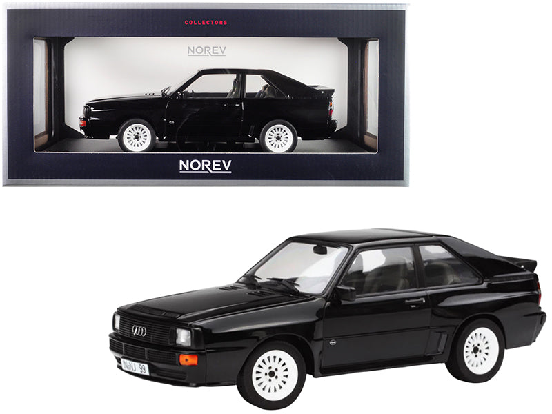 1985 Audi Sport Quattro Black 1/18 Diecast Model Car by Norev
