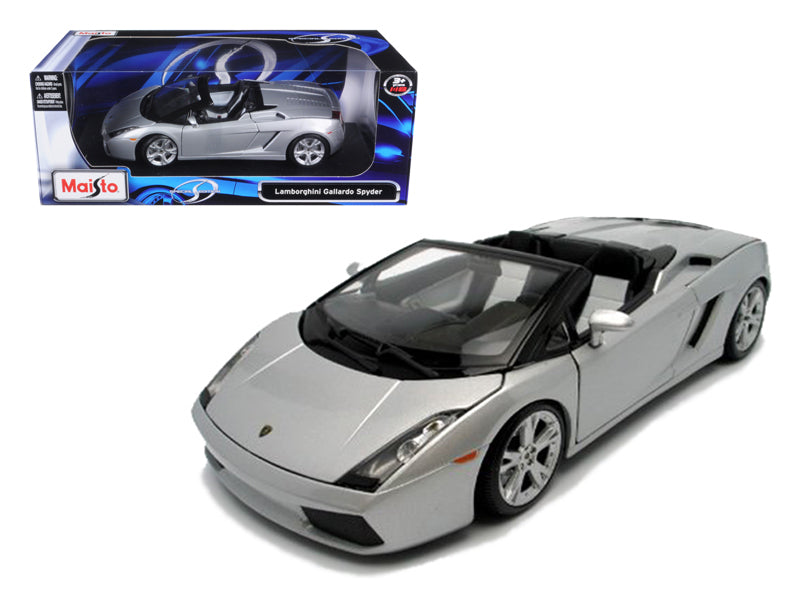 Lamborghini Gallardo Spyder Silver 1/18 Diecast Model Car by Maisto