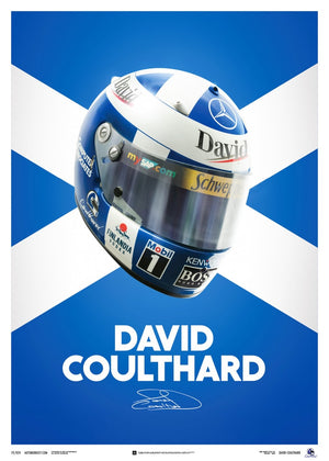 David Coulthard - Helmet - 2000 - Poster