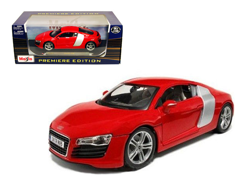 Audi R8 Red 1/18 Diecast Model Car by Maisto