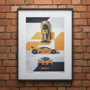 McLaren F1 LM - Papaya Orange - Poster