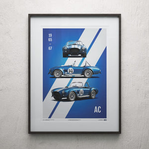 Shelby-Ford AC Cobra Mk III - Blue - 1965 - Limited Poster