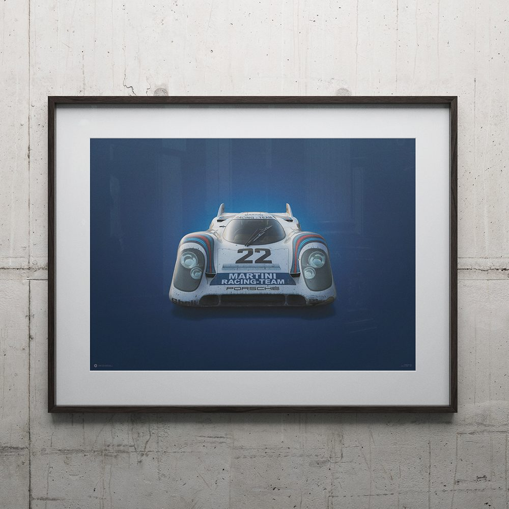 Porsche 917 - Martini - 24h Le Mans - 1971 - Colors of Speed Poster