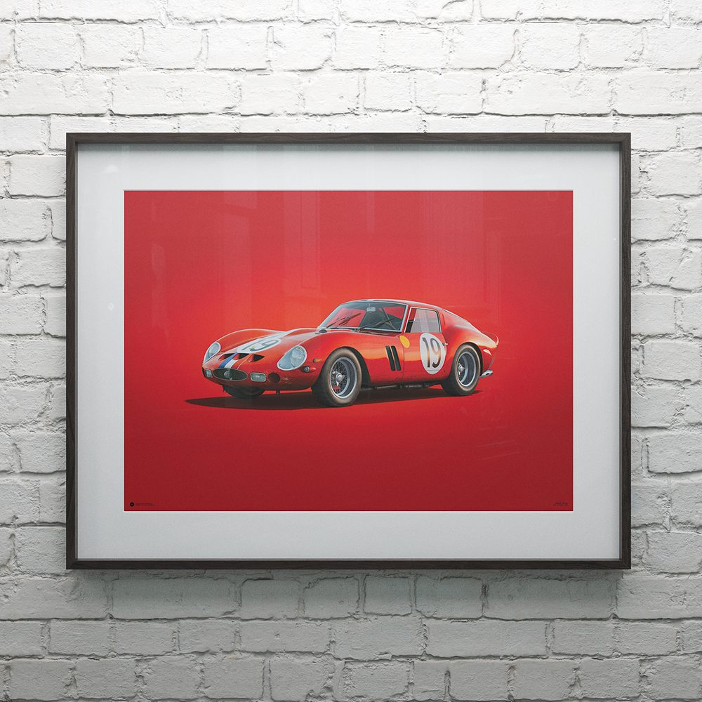 Ferrari 250 GTO - Red - 24h Le Mans - 1962 - Colors of Speed Poster