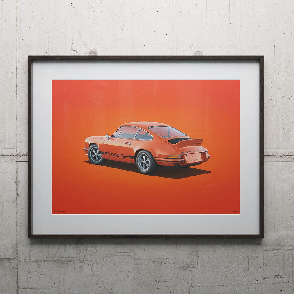 Porsche 911 RS - Tangerine - Colors of Speed Poster