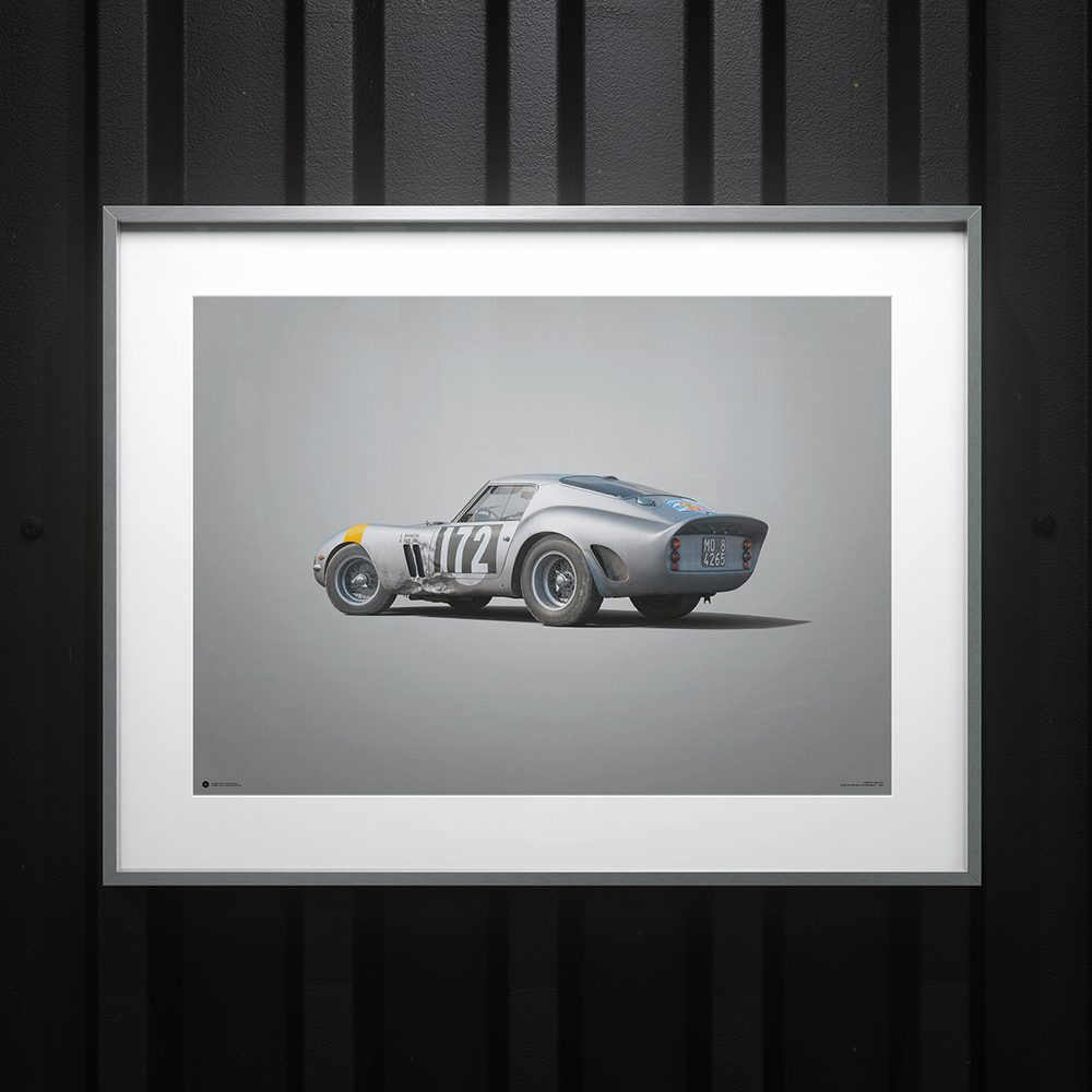 Ferrari 250 GTO - Silver - Tour de France - 1964 - Colors of Speed Poster