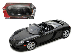 Porsche Carrera GT Black with Black Interior 1/18 Diecast Model Car by Motormax