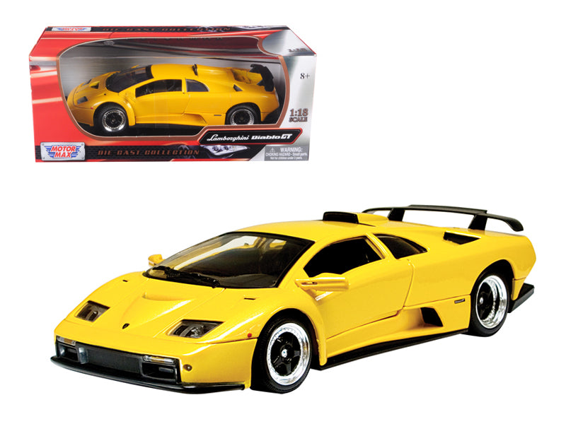 Lamborghini Diablo GT Yellow 1/18 Diecast Model Car by Motormax