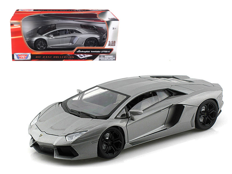Lamborghini Aventador LP700-4 Grey 1/18 Diecast Car Model by Motormax