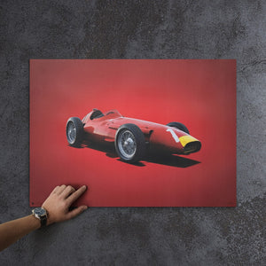 Maserati 250F - Juan Manuel Fangio - 1957 - Colors of Speed Poster