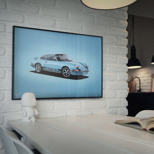 Porsche 911 RS - Blue - Colors of Speed Poster