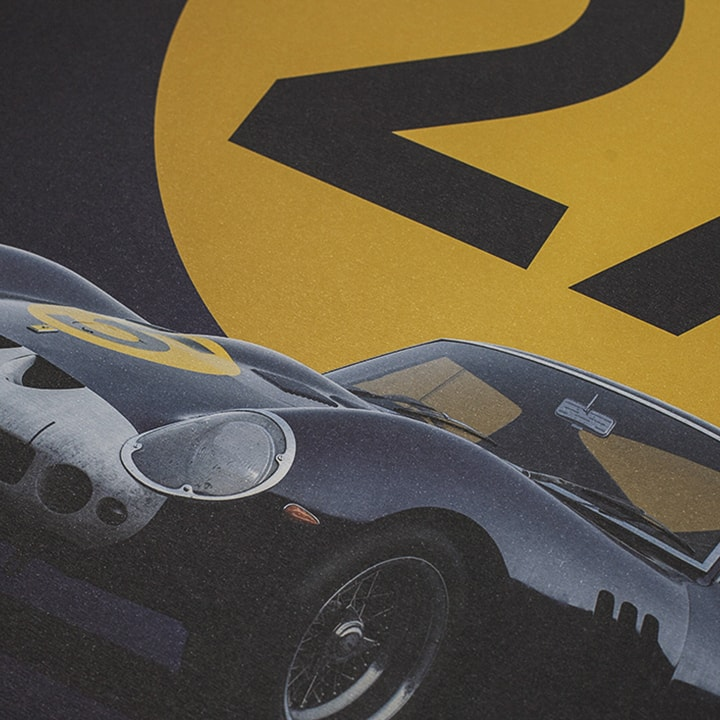 Ferrari 250 GTO - Dark Blue - Goodwood TT - 1962 - Limited Poster