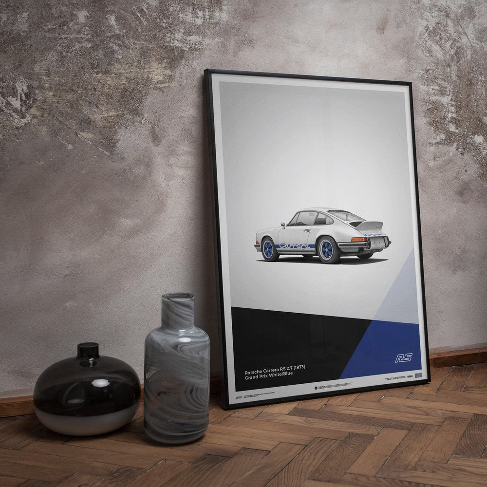 Porsche 911 RS - White - Limited Poster