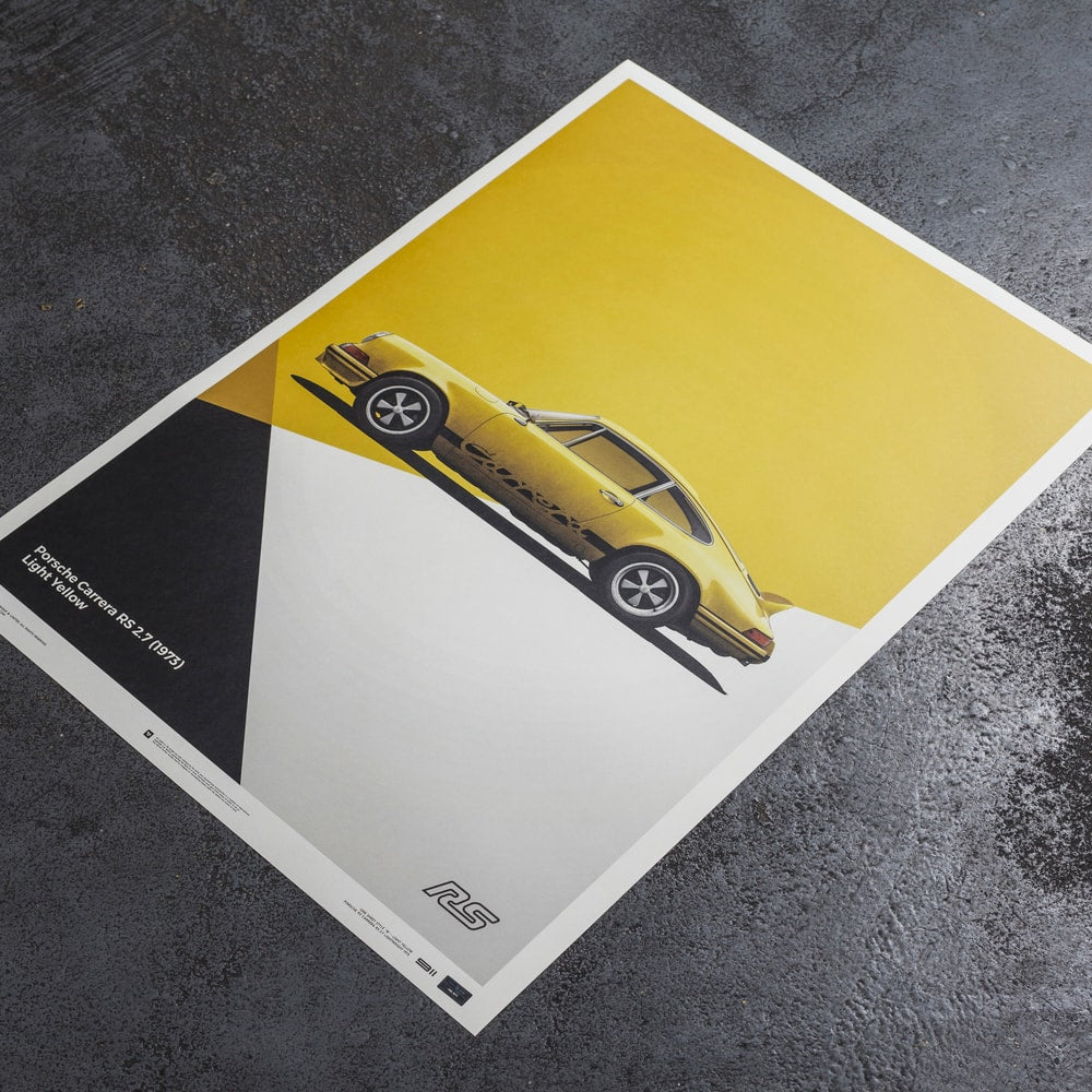 Porsche 911 RS - Yellow - Limited Poster