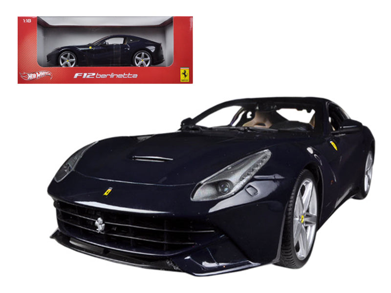 Ferrari F12 Berlinetta Blue 1/18 Diecast Model Car by Hotwheels