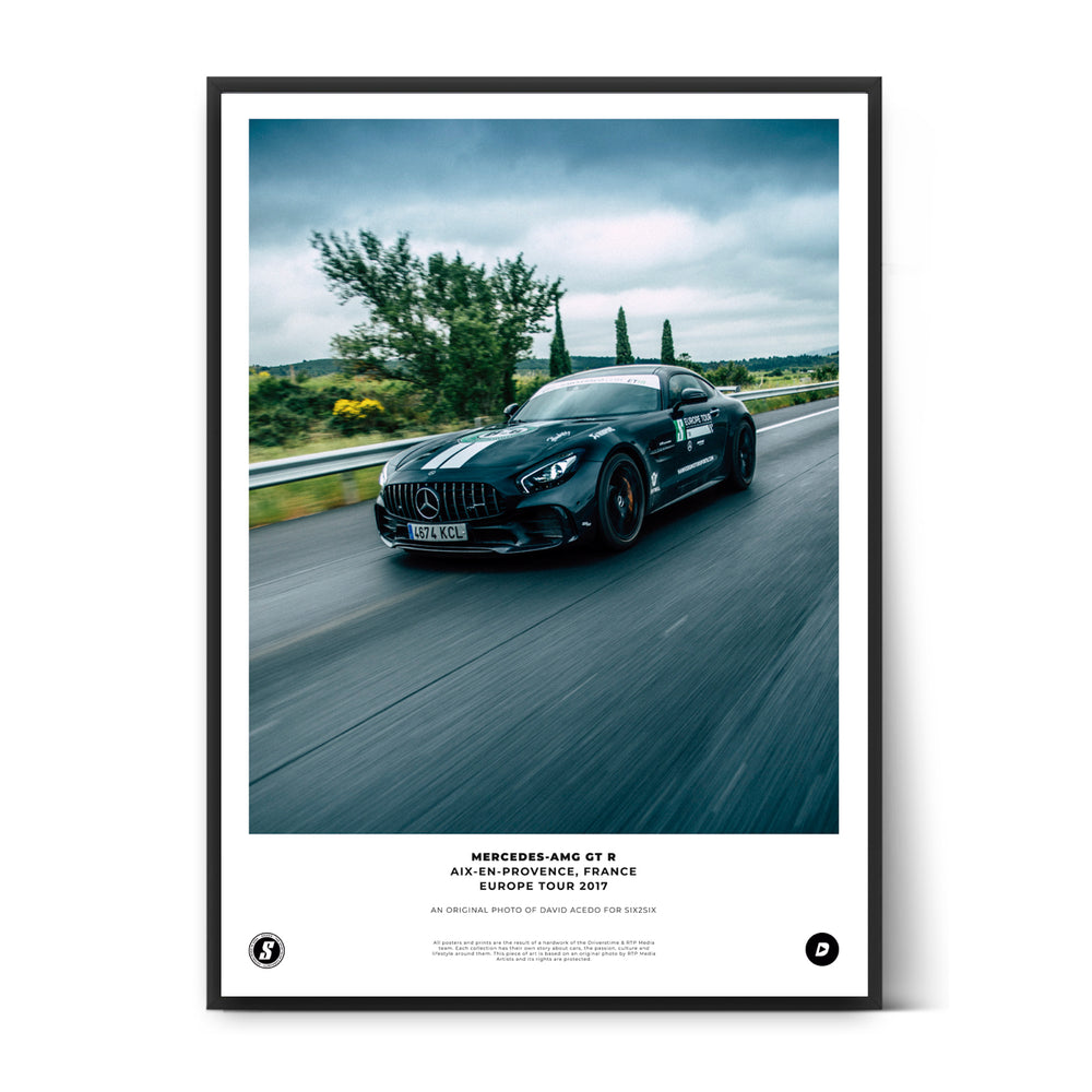 SIX2SIX Europe Tour Mercedes-AMG GT R Poster