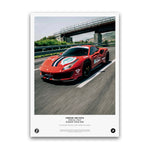 SIX2SIX Europe Tour Ferrari 488 Pista Poster