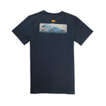 "Camiseta ""Take Risks"" Cafe Leather x Manu Campa Navy"